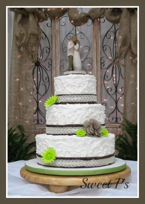 Rustic Country Wedding Cake   Sweet P\'s Cake Decorating & Baking Blog