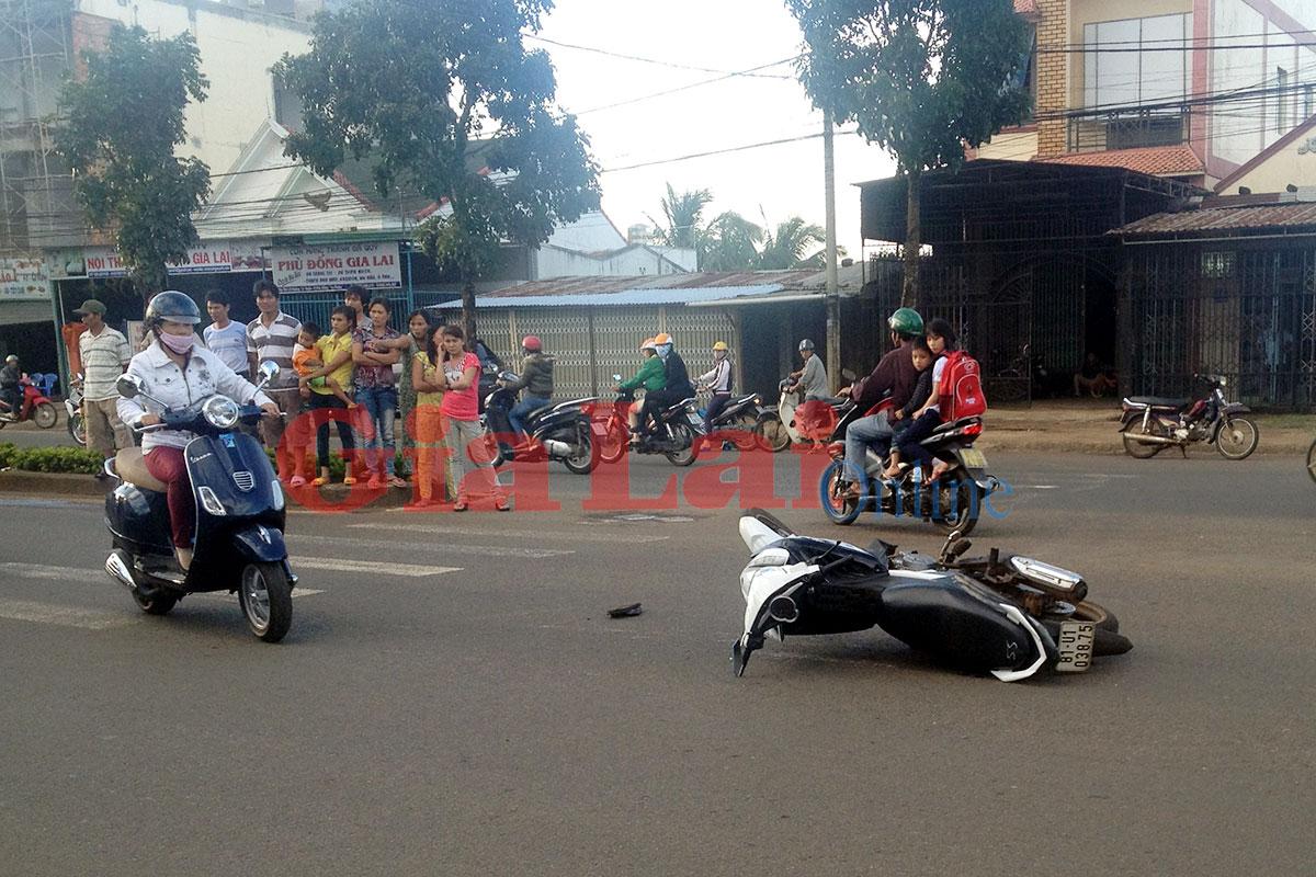 TP. Pleiku: Vượt ẩu gây tai nạn giao thông