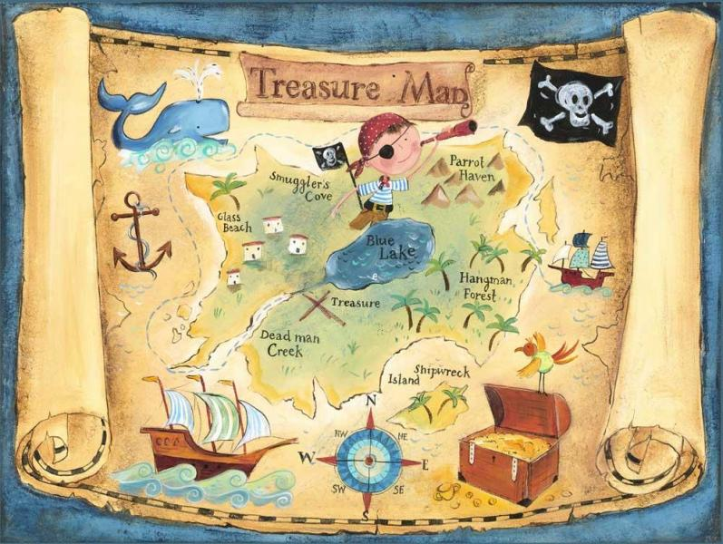 Most treasure maps are about as reliable as this kiddie map.)