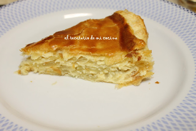 tortilla de patata en hojaldre
