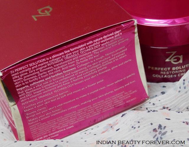 Za Perfect Solution Restoring Collagen Cream Review, price