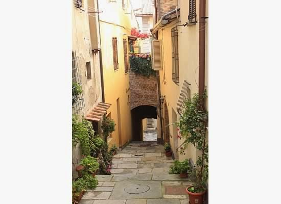 Montepulciano side streets in Tuscany