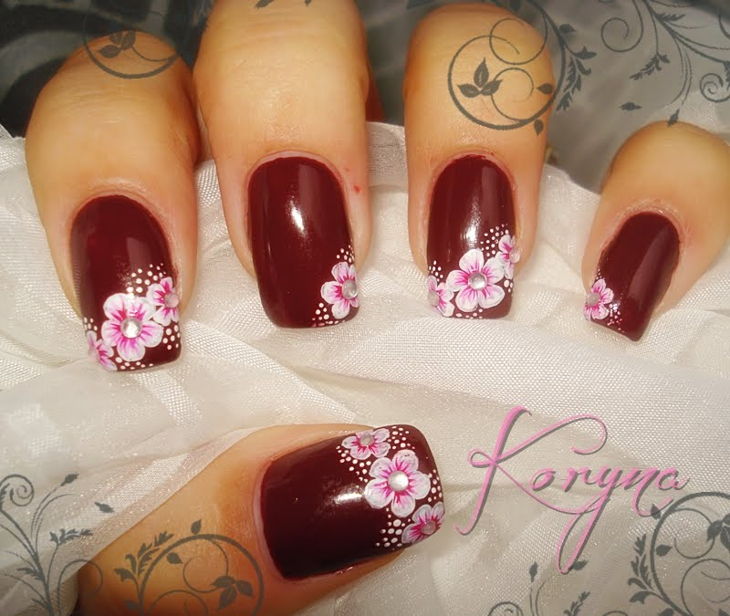 Nail designs brown beautify themselves with sweet nails my nails brown pink nails prinsesfo Image collections