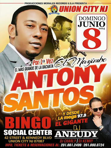 Antony Santos - Bingo Center - June 8, 2014