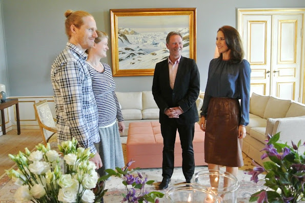Crown Princess Mary met with Danish recipients of the Crown Princess Mary Scholarship at Frederik VIII's Palace