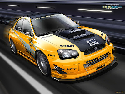 yellow car 3d