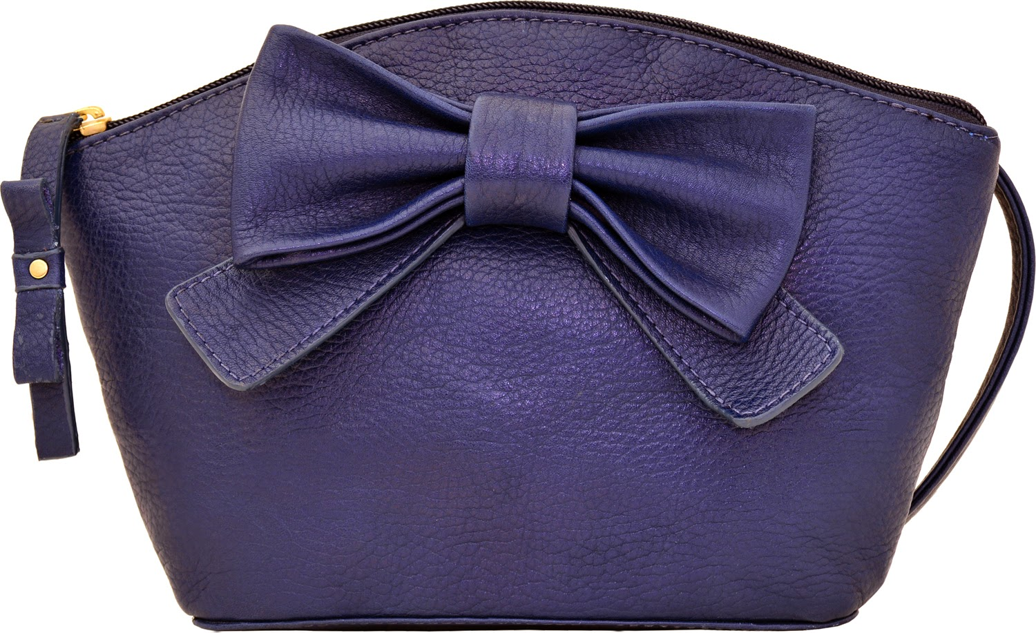 Hidesign midnight blue satchel with a bow