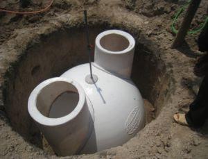 Xây bể KSH composite và túi khí dự trữ