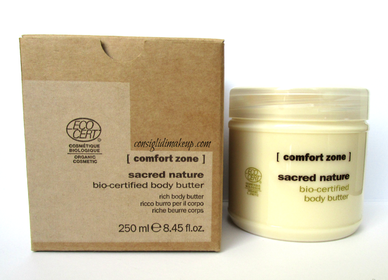 Review: Sacred Nature bio-certified Body Butter - Comfort Zone