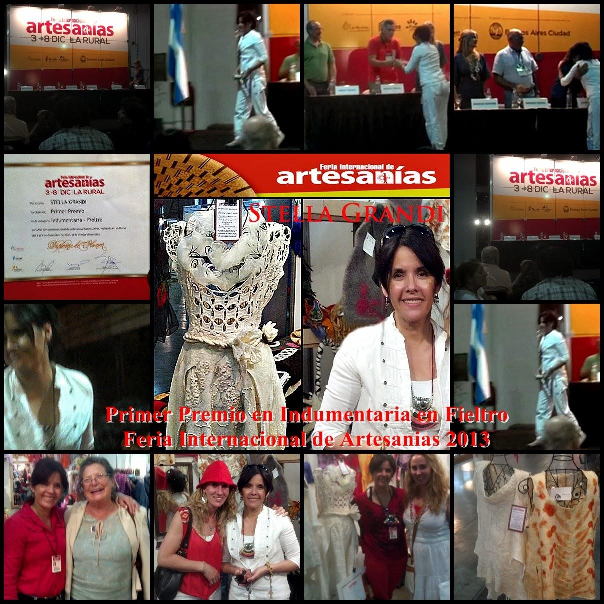 VIII FERIA INTERNACIONAL DE ARTESANIAS EN LA RURAL 2013 | STELLA GRANDI PRIMER PREMIO EN INDUMENTARIA EN FIELTRO