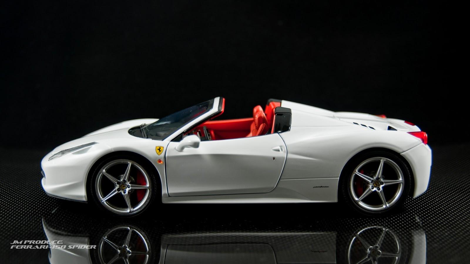 *: Ferrari 458 Spider white ver. (Hotwheels 1:18)