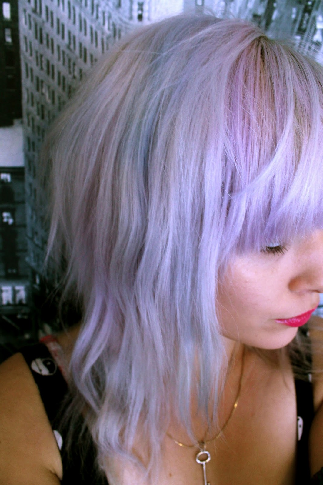 lilac and baby blue hair