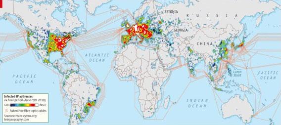 Global network diagram map