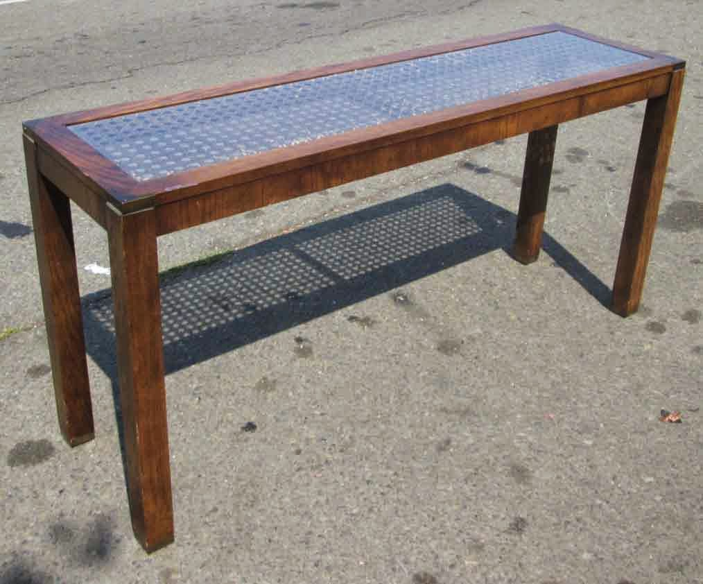 Uhuru furniture collectibles sold glass top sofa table for Sofa table 70