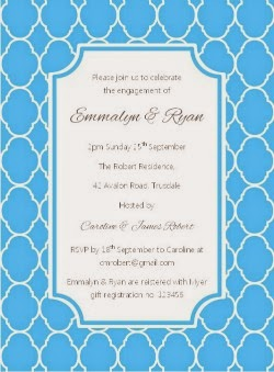 Sky blue Quatrefoil Printable Party Invitation by Love That Party