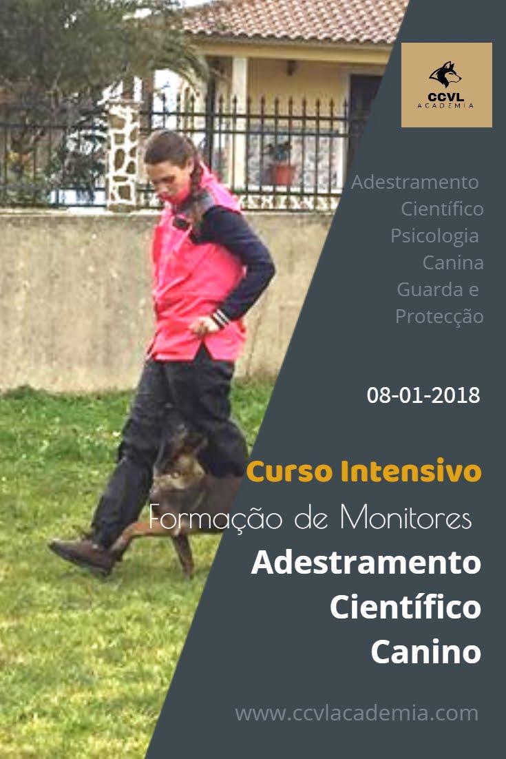 Próximo Curso Intensivo de Formação de Monitores de Adestramento Científico Canino
