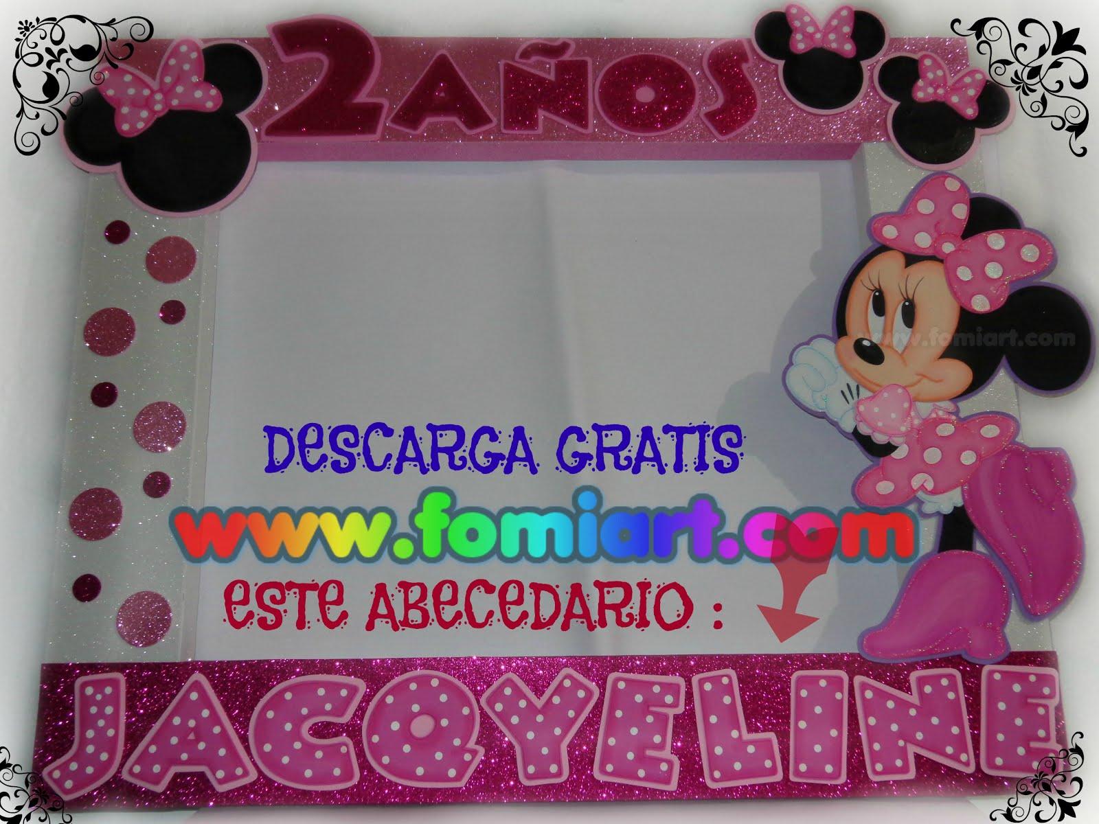 Moldes Gratis Abecedario Mickey Mouse