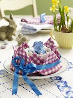 Украса на маса за Великден със зайци