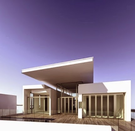 Gambar Contoh Desain Model Rumah minimalis Modern Bergaya Eropa
