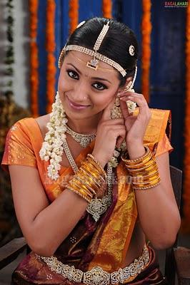 Trisha In Wedding Saree