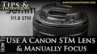 DSLR Tutorial: How To Use A Canon STM Lens & Manually Focus | Tips & Techniques
