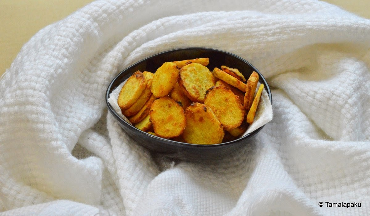 Baked Taro Chips ~ Tamalapaku