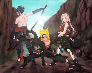 Sakura Naruto Sasuke Akatsuki Wallpaper 1280x1024
