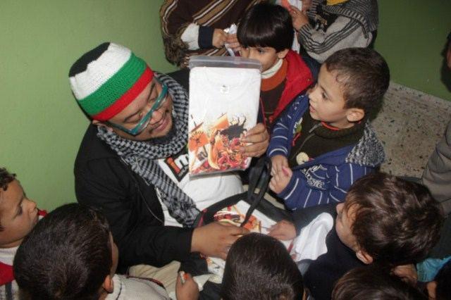 Afdlikn Shaui di Gaza 7 Dis 2012, aqsa asyarif bantuan gaza, afdlin duta bantuan
