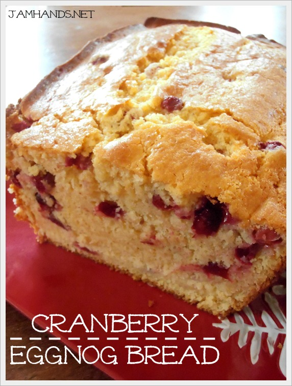 Jam Hands: Cranberry Eggnog Bread