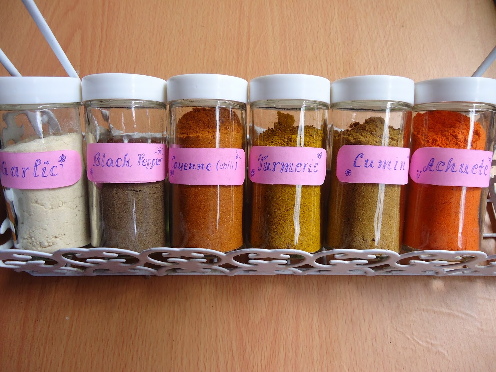 bottles of spices