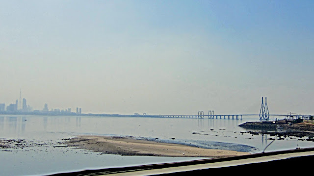 bandra- worli sea-link from a distance