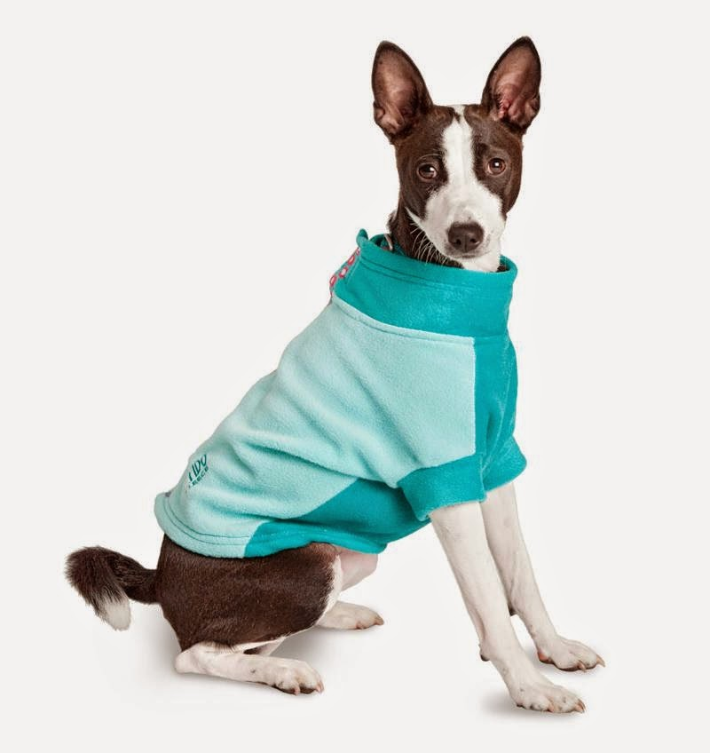 Fleece Dog Coat Teal My Heart