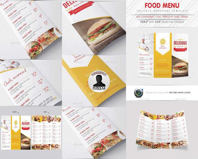 المجموعة السابعة من منيوهات الطعام food menu design
