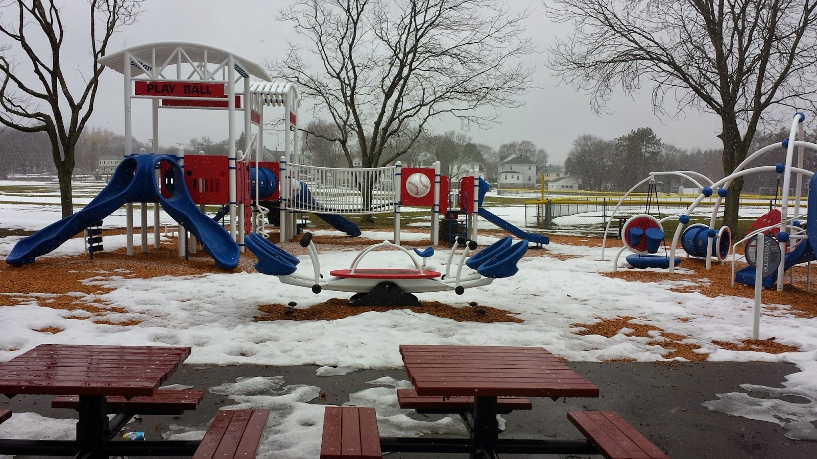 almost ready for kids to play on! (snow melting)
