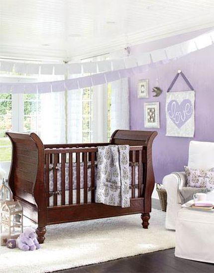 Habitaciones para beb s decoradas con lila colores en casa - Habitaciones bebe pequenas ...