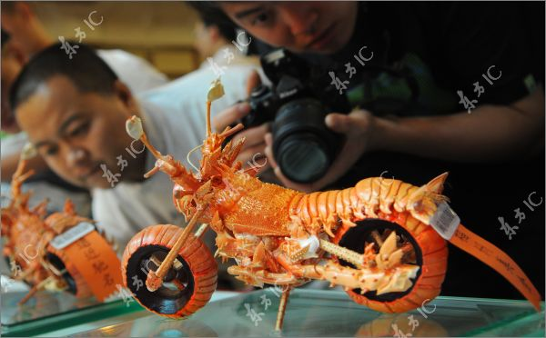 Motorcycle Made From Lobster Shells