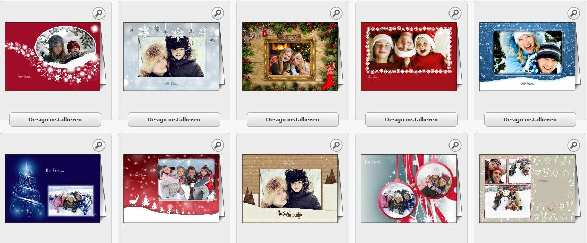 Pers nliche weihnachtskarten bei entwerfen for Weihnachtskarten erstellen