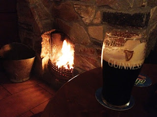 Nothing could warm the heart more than a pint of Guinness and a roaring fire in the hearth