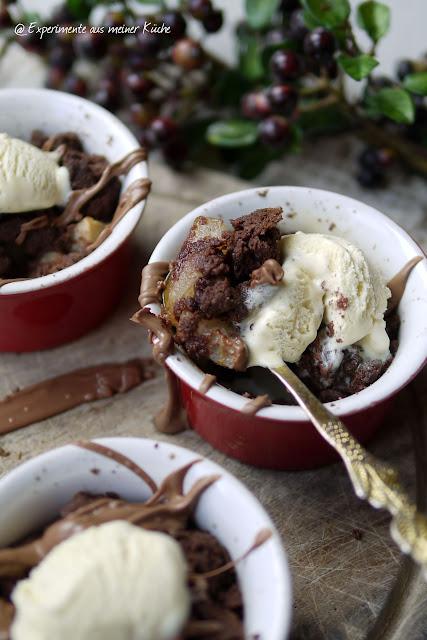 Experimente aus meiner Küche: Birnen-Schoko-Crumble