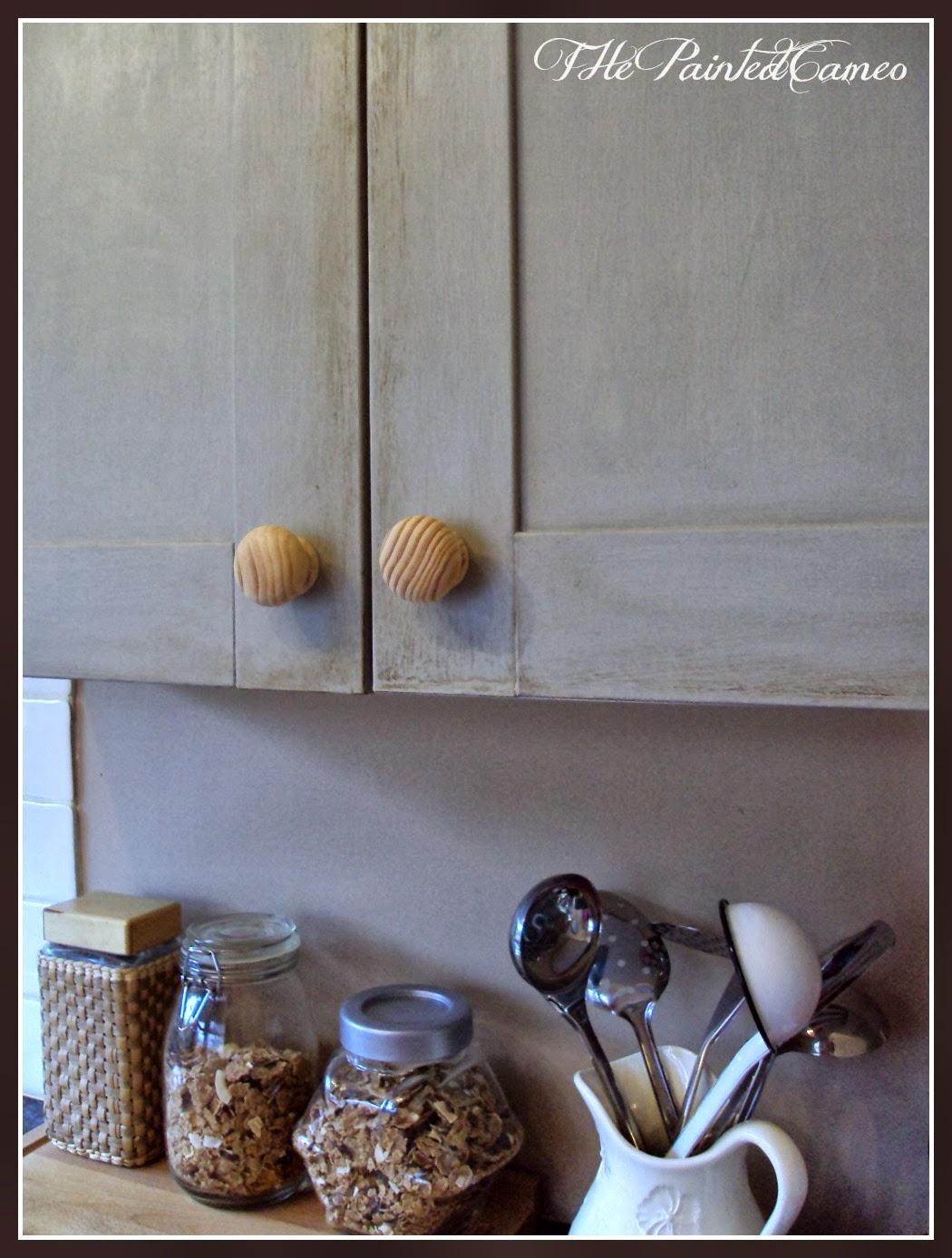 ThePaintedCameo: Paris Grey kitchen cabinets..