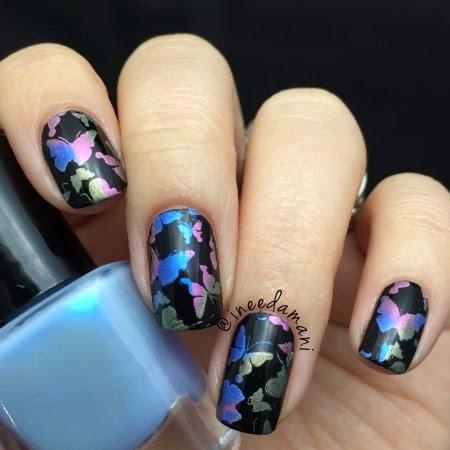 mpolish butterfly dreams nail stamping bornprettystore bp34