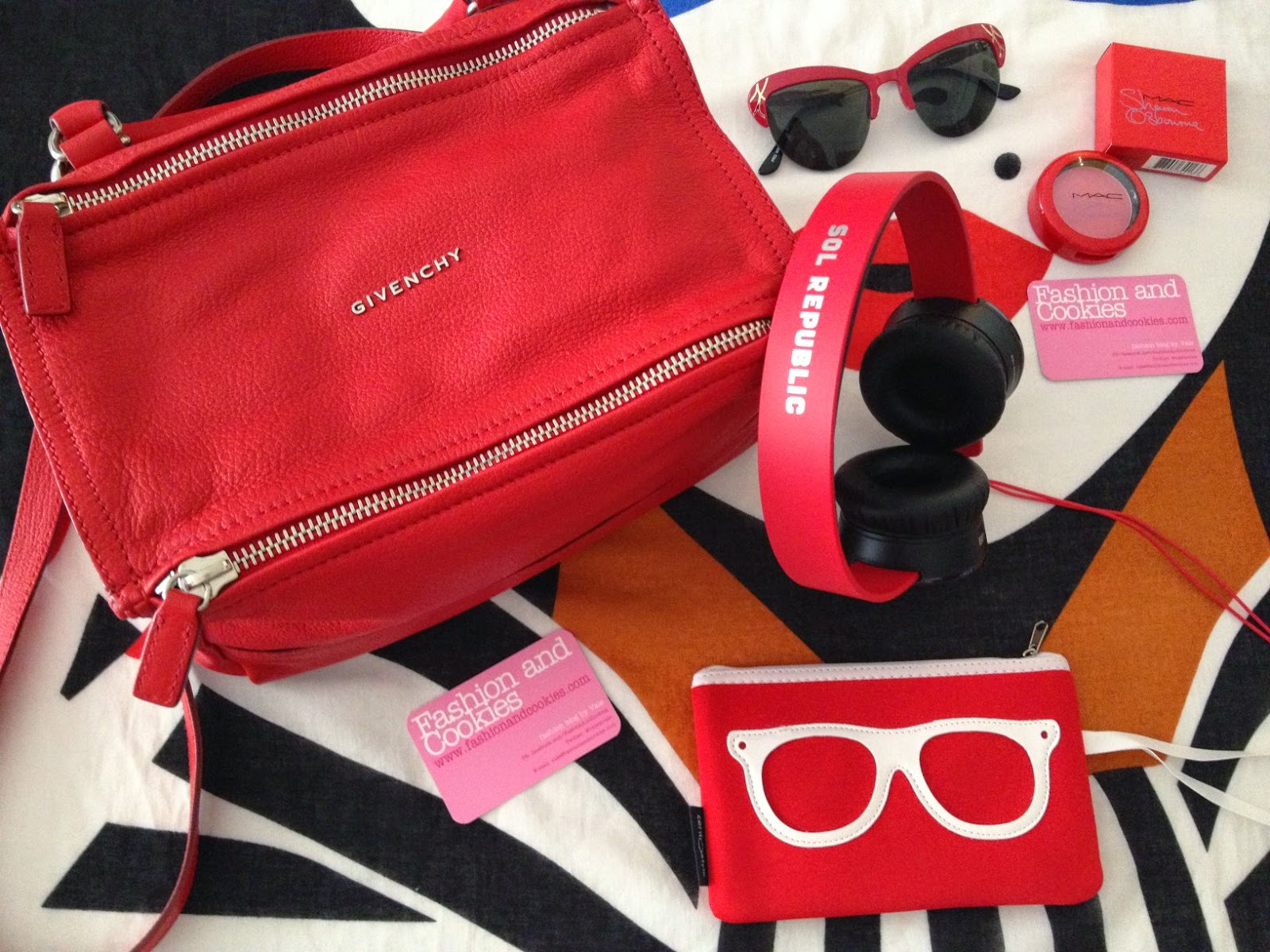 Red Givenchy Pandora, Pandora small Givenchy, Sol Republic headphones, Fashion and Cookies, fashion blogger