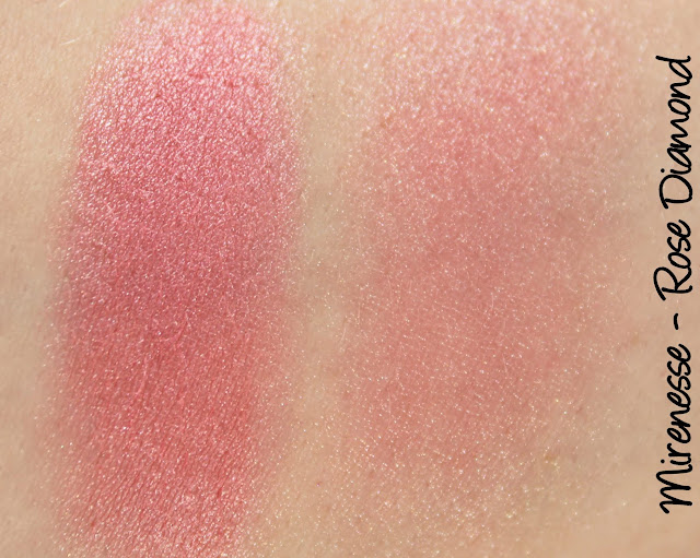 Mirenesse Marble Mineral Blush - Rose Diamond Swatches & Review