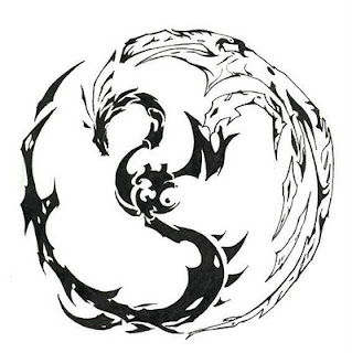 Black Dragon Tribal Tattoo Designs