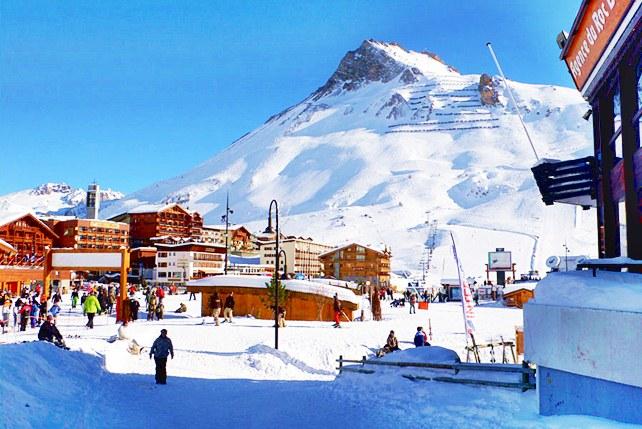 viajes esqui alpes franceses: