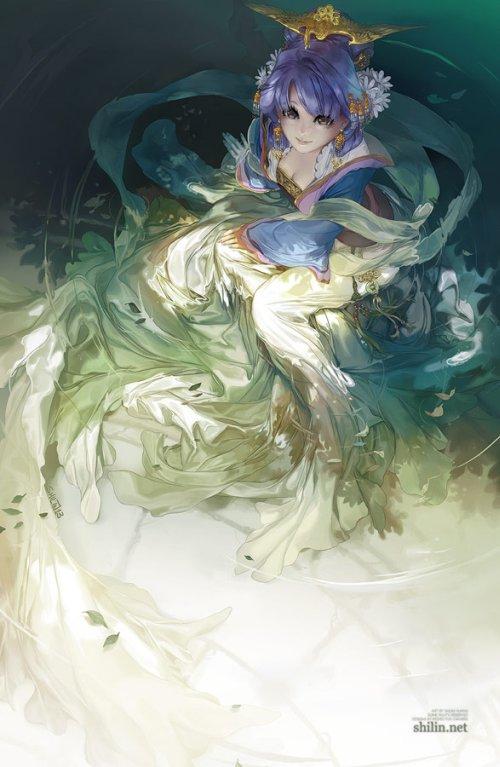 Shilin Huang deviantart ilustrações fantasia estilo mangá