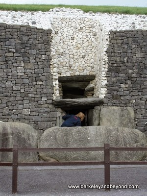 tomb entrance at Newgrange site near Dublin, Ireland