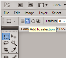 How to Select Multiple Area in Photoshop CS5