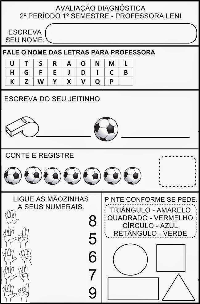 AVALIAÇÃO DIAGNÓSTICA 2º PERÍODO - 5 ANOS