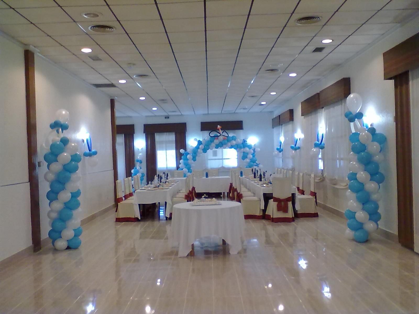 Related pictures adornos para fiesta con globos para for Decoracion bautizo